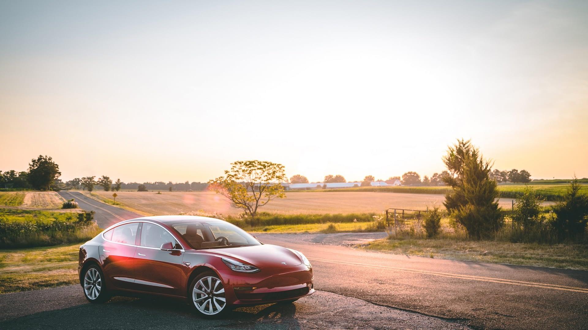 Model 3 Sunset